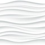 Biały bezszwowy falisty płytka textured panel - 95534374
