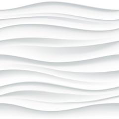 White seamless wavy tile textured panel
