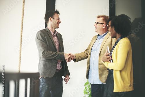 Fotografía  Business People Meeting Corporate Handshake Greeting Concept