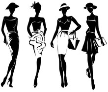 Black And White Retro Fashion ...