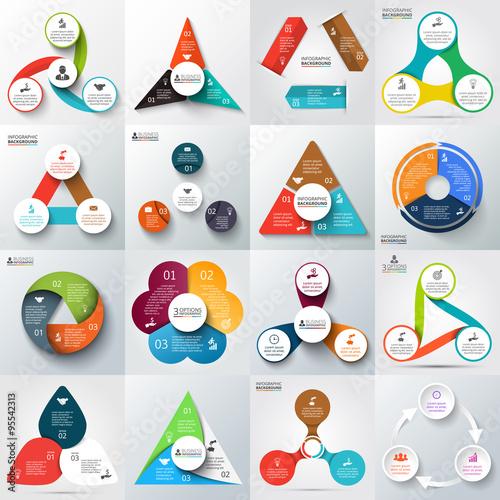 Fotografie, Obraz  Big set of vector elements for infographic.