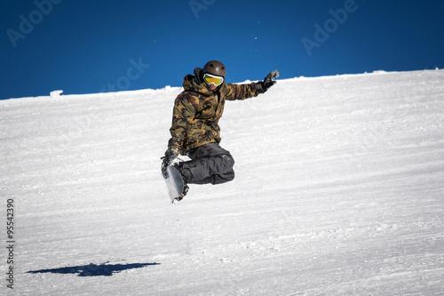 snowboarder trick Canvas Print