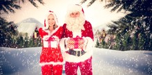 Composite Image Of Santa And M...