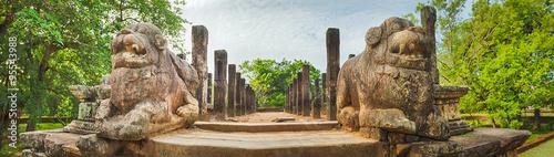 Fototapeta The Council Chamber, Polonnaruwa, Sri Lanka. Panorama