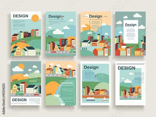 Fotografie, Obraz  adorable brochure template