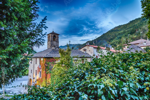 mountain village in Tuscany