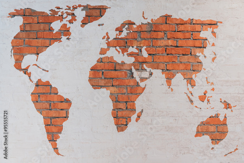 Foto op Canvas Wereldkaart World map.