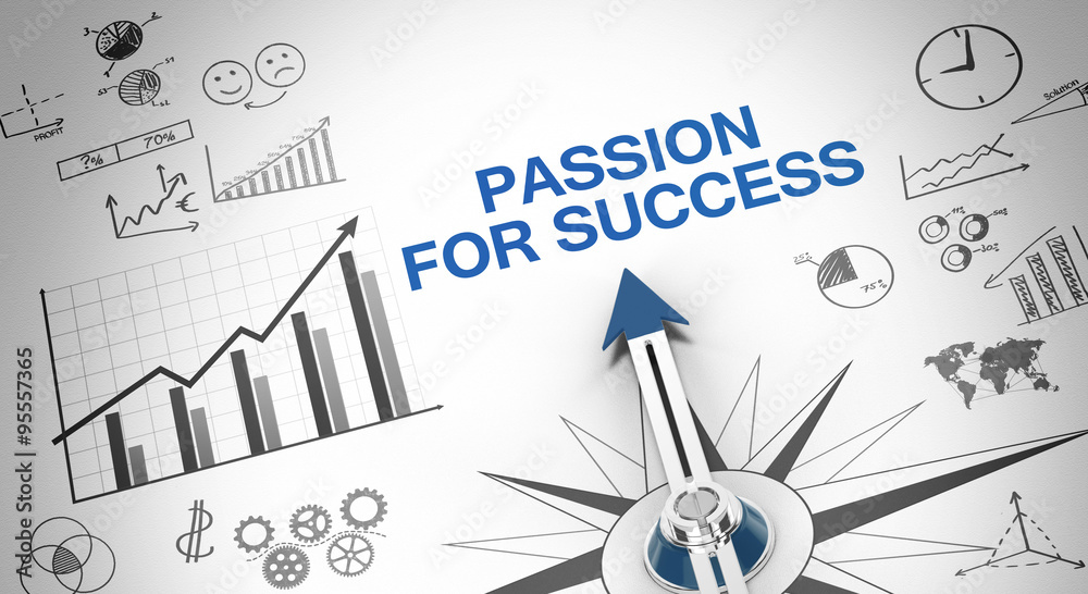 Fototapeta Passion for success