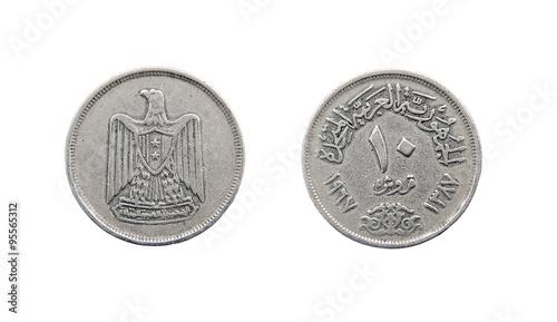 Fotografia  Coin 10 piastres. Egypt. 1967