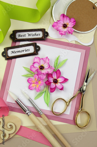 Handmade greeting card and assorted scrapbooking or card making handmade greeting card and assorted scrapbooking or card making tools and materials m4hsunfo