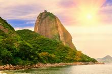 The Mountain Sugar Loaf And Guanabara Bay In Rio De Janeiro. Brazil