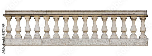 Baroque balustrade (isolated on white background) Wallpaper Mural