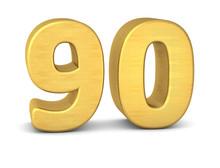 Zahl Cipher 90 Gold Vertikal