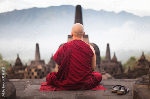 Stampa su Tela  Borobudur Buddhist