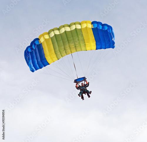 Fotografie, Obraz  Tandem Skydivers