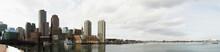 Boston Harbor Skyline In Winter