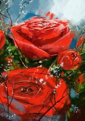 Obraz roses red - Stock Image