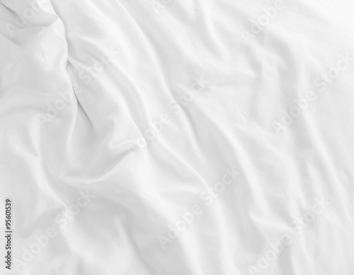 white bed sheets Fototapet