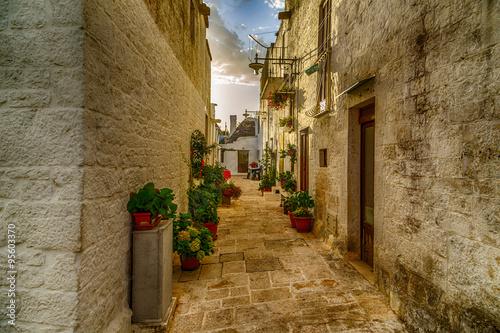 In de dag Mediterraans Europa The Trulli houses of Alberobello in Apulia in Italy