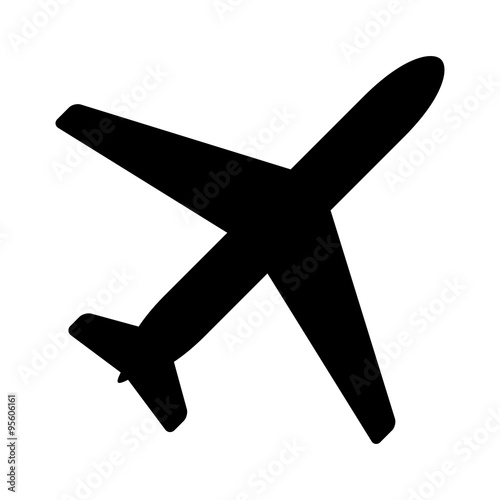 Airplane aviation flat icon for apps and websites Wallpaper Mural