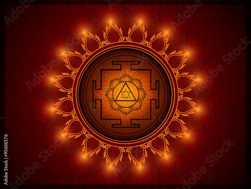 Fényképezés  Yantra Goddess Lakshmi