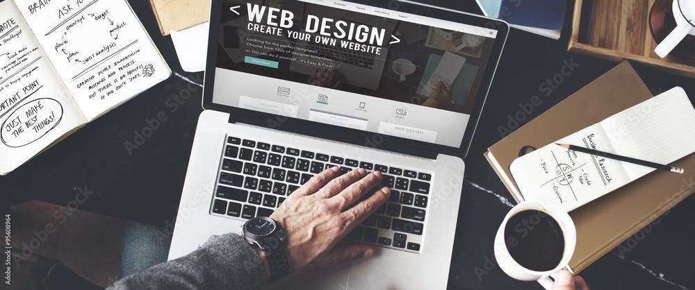 Fototapeta Web Desegn Ideas Creativity Internet Online Multimedia Concept