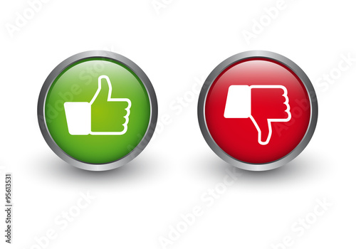 Zustimmung - Ablehnung Button - Buy this stock vector and explore ...