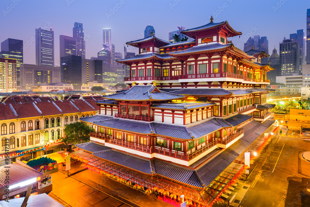 Fototapeta BuddhaTooth Relic Temple of Singapore