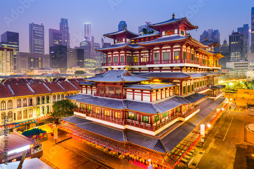 Fototapety, obrazy: BuddhaTooth Relic Temple of Singapore