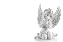 Little White Guardian Angel. Christmas Decoration