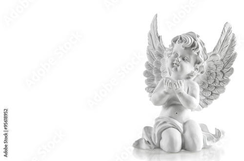 Stampa su Tela Little white guardian angel. Christmas decoration