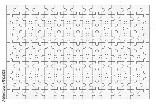 Jigsaw puzzle blank template 150 pieces - Buy this stock ...