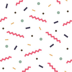 Tapeta Seamless abstract geometric pattern fashion 80-90s. It can be used in printing, website background and fabric design.