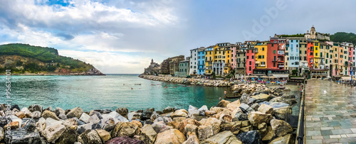 Poster Liguria Beautiful fisherman town of Portovenere, Liguria, Italy