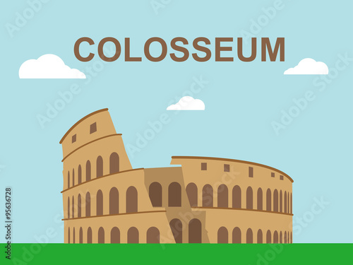 Vászonkép Colosseum Illustration