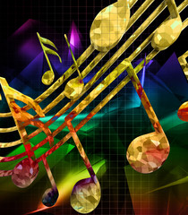 FototapetaAbstract background with musical notes