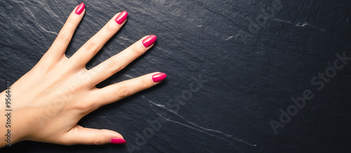 Tablou Canvas Woman nails