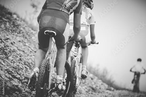 Fotografie, Obraz  Ragazzo Ciclista Gara di mountainbike