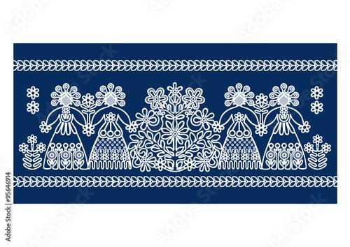 obraz PCV Folk lace patterns