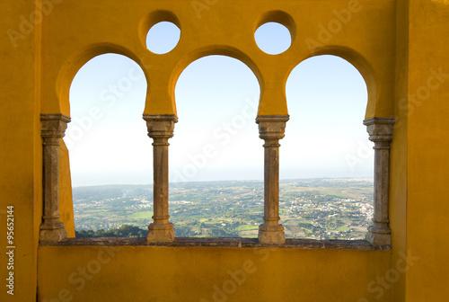 Canvas Prints Liguria View of sintra by arabic windows