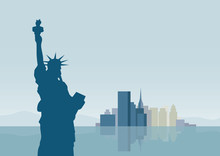 Vector  Illustration  Graphic Building New York City Background