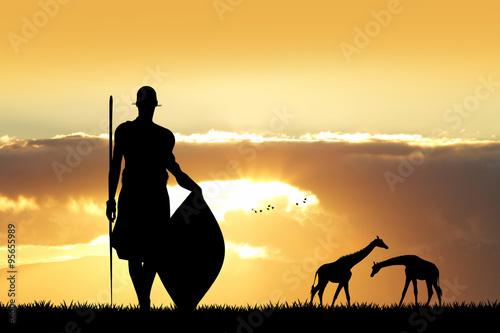 Photo Stands Melon Masai dance at sunset