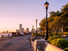 Sunset At Battery Park In New ...