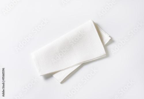 Fotografie, Obraz  White fabric napkin