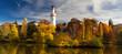 Leinwandbild Motiv Panorama Schlossgarten Bad Homburg