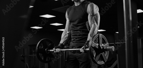 Poster Fitness Bodybuilder in the gym