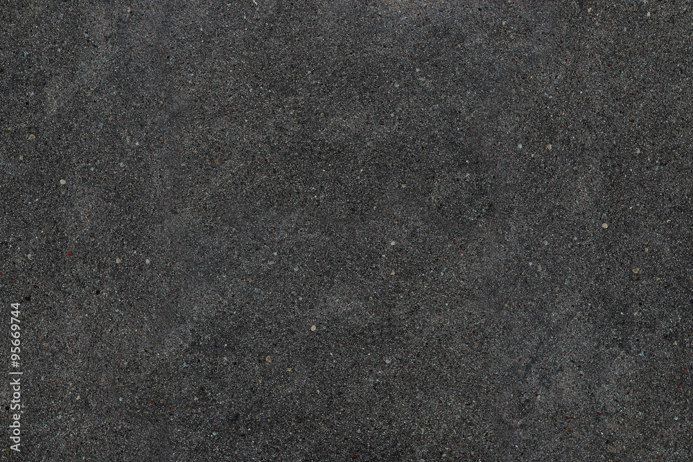 Fototapeta Real asphalt texture background. Coloured dark black asphalt pattern. Grainy street detail gray textured background. Best way show your design or illustration with this actual asphault photo texture.