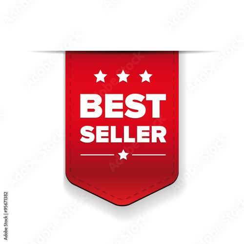 Fotografía  Best Seller red ribbon vector