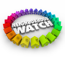 Neighborhood Watch Houses Homes Organized Patrol