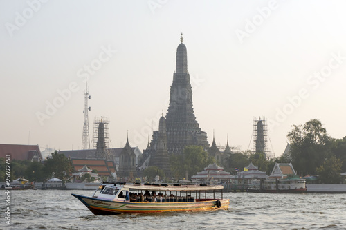BANGKOK january 5 :Ferry boat at Chao Phraya River, Chao Phraya
